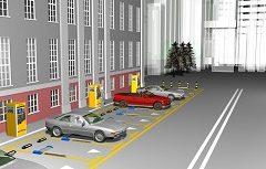Parking flap lock unit for outdoor parking lots