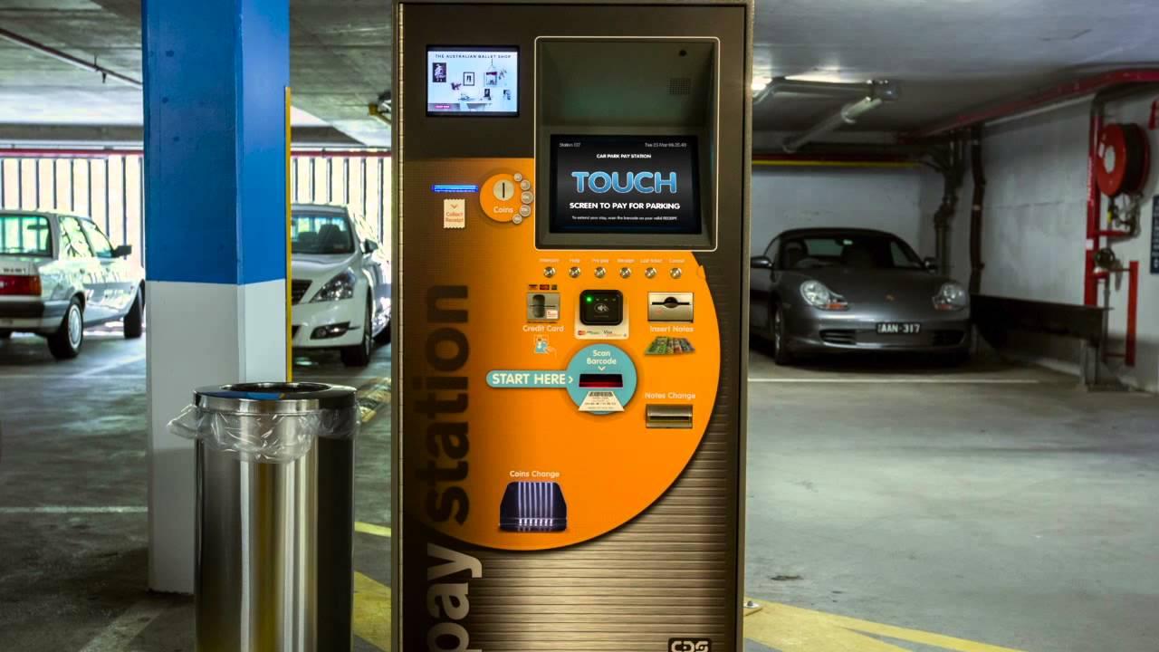 parking lot payment machines