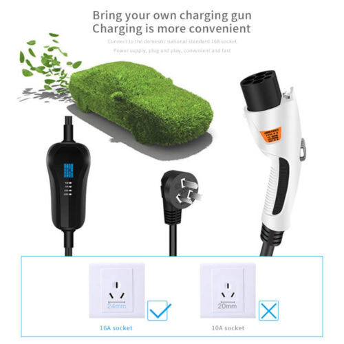 KW-EVC01A 3.5KW 16A Portable EV Charger Cable (8)