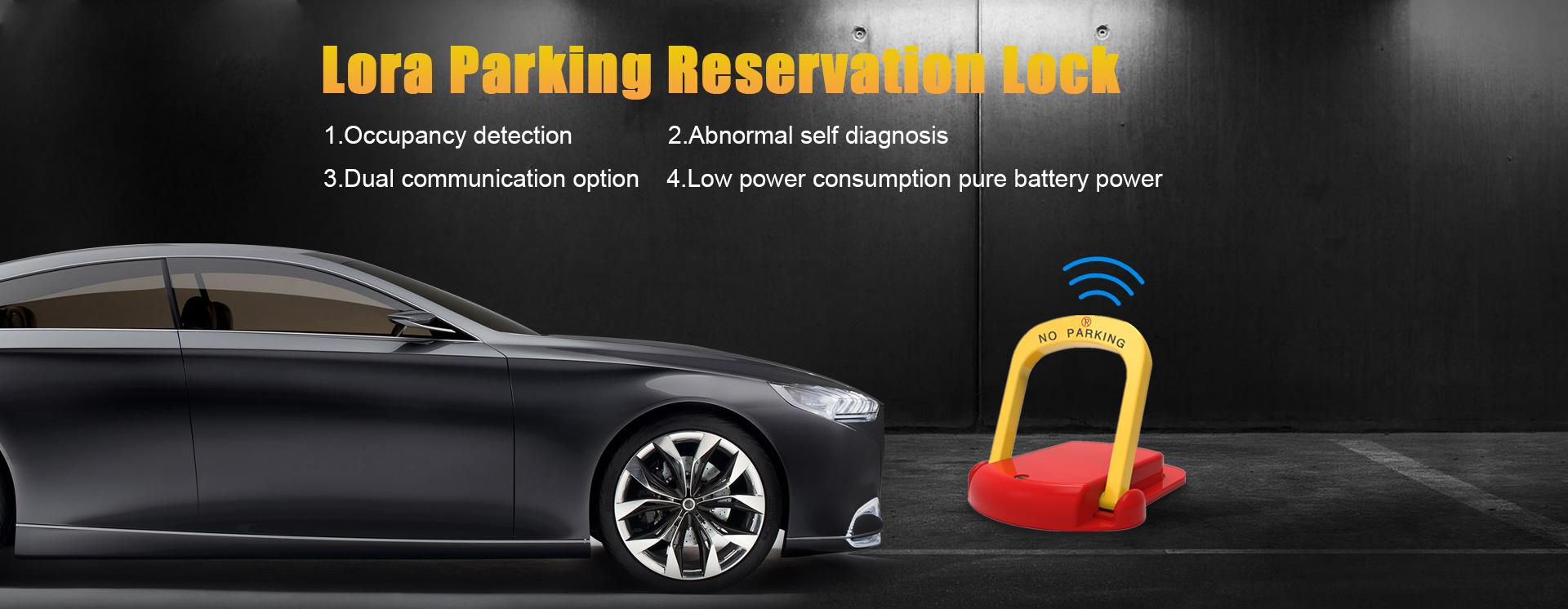Lora parking resevation lock